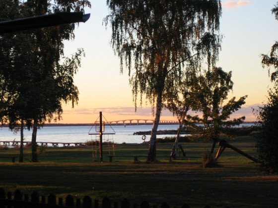 Kalmarsund i skymning &nbsp 2005-09-17 IMG_0088 Granudden Färjestaden Öland
