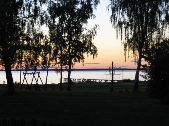 Granuddens badplats i skymning &nbsp 2005-09-17 IMG_0090 Granudden Färjestaden Öland
