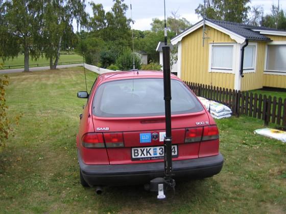 Radioantenn Här ser du min HS1800 screwdriver antenn bak på min gamla bil. 2005-09-18 IMG_0111 Granudden Färjestaden Öland