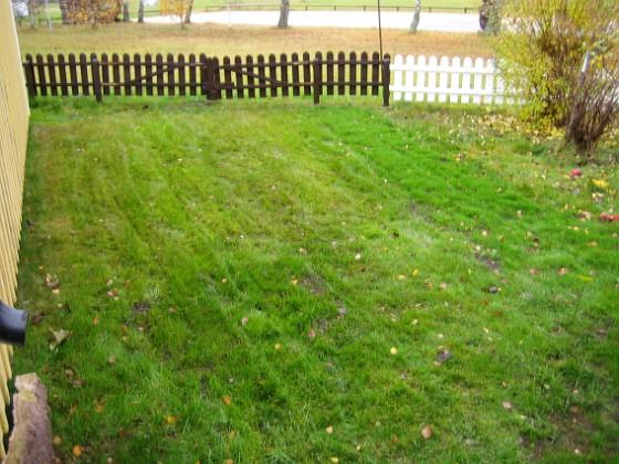 Baksidan På baksidan har jag planterat nytt gräs, där jag tidigare hade en stor jordhög.&nbsp 2005-11-05 IMG_0075 Granudden Färjestaden Öland