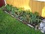 Altan. Här är det fortfarande full grönska. I förgrunden ser vi vacka Blodnäva med sina karaktäristiska blad. Bakom syns Ranunkler och lite Astrar och Trädgårdsnejlikor. (2006-11-26 Bild 005)