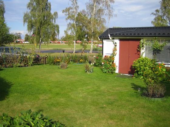 Granudden Nu börjar gräset bli grönt igen. Det var ganska gult hela sommaren och under september så har det inte regnat särskilt mycket.&nbsp 2012-09-29 IMG_0028 Granudden Färjestaden Öland