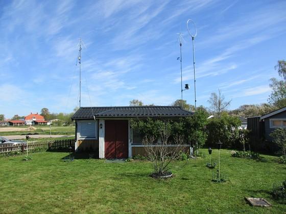 Granudden Här ser man tre antenner samt en väderstation. 2020-05-04 Granudden_0035 Granudden Färjestaden Öland