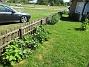 Staketet Stockrosorna vid staketet växer sakta i år tycker jag. 2020-06-09 Staketet_0045